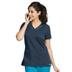 NWT Greys Anatomy Active Scrub Top 41466 SMALL
